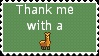 STAMP- ''Thank me with a llama'' by Italian-Pitbull