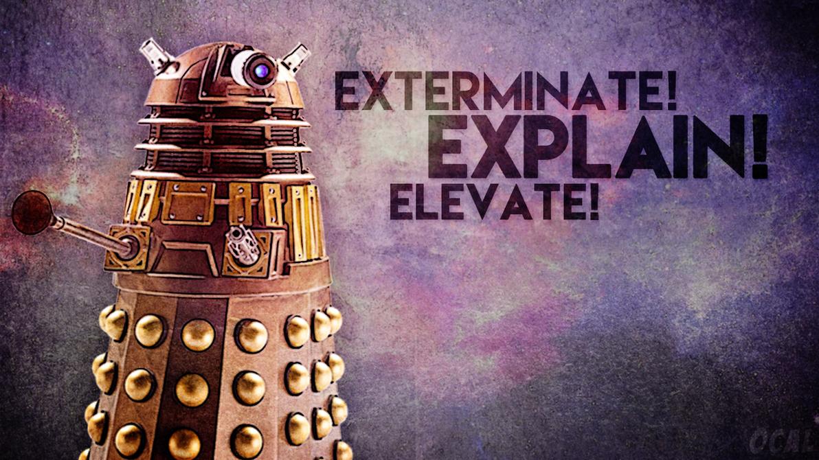Doctor Who Wallpaper Dalek Exterminate Dalek Wallpaper [Exter...