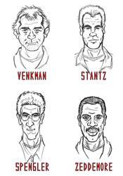 Ghostbusters Portraits by RazorsEdge701