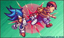 SSBBrawl: Sonic vs Ness by TerrorEffect