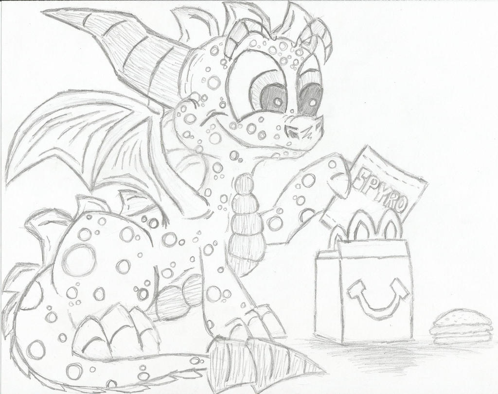 Spyro-Skylanders McDonalds Project by KrazyKari