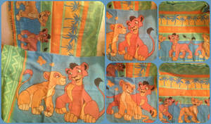 ( Lion King ) Kiara and Kovu Twin Flat Bed Sheet