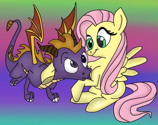 ( StD/MLP ) Fluttershy Meets Spyro the Dragon