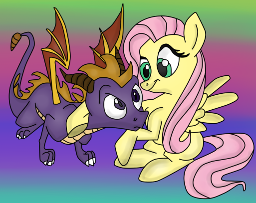 ( StD/MLP ) Fluttershy Meets Spyro the Dragon