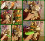 ( Crash Bandicoot ) Custom Dingodile Plushie by KrazyKari
