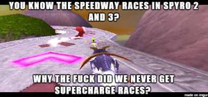 ( Spyro the Dragon ) Supercharge Races Meme