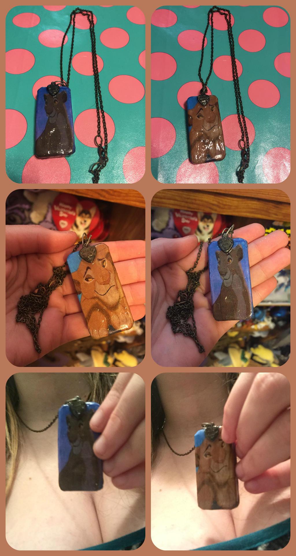 ( The Lion King ) Sarabi Custom Domino Necklace by KrazyKari