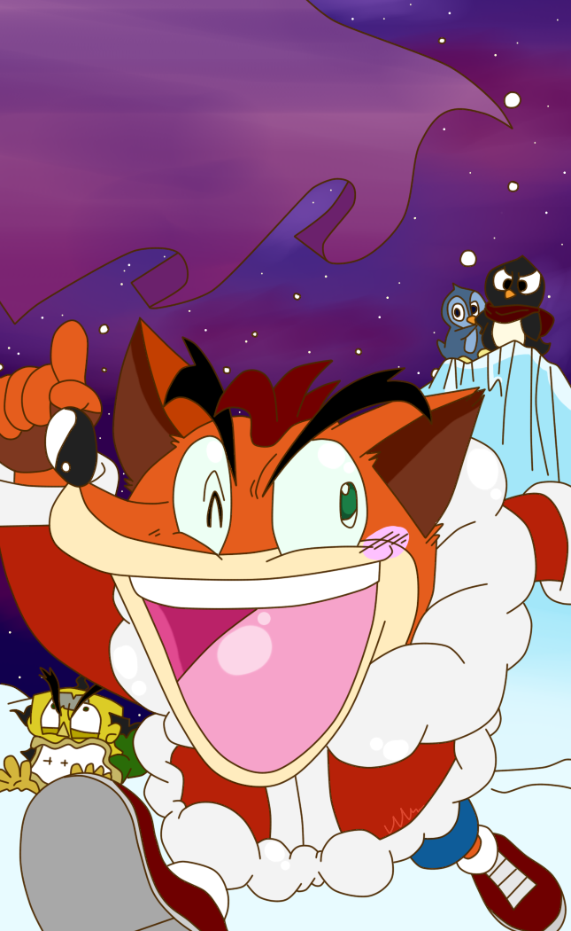 Crash Bandicoot Christmas.Crash Bandicoot Christmas Themed Manga By Krazykari On