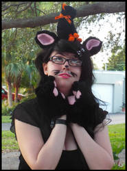 Halloween 2015 Black Cat Cosplay by KrazyKari