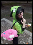 (Invader Zim) GIR the Cupcake Theif Cosplay by KrazyKari