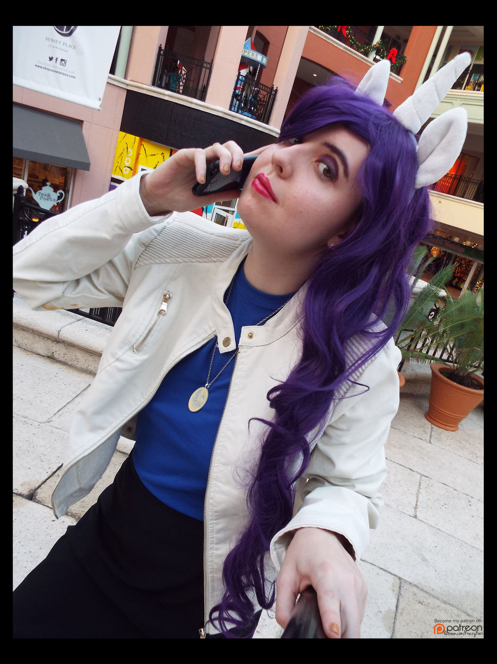 (MLP) Ms.Rarity's Business Call Cosplay