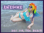 (MLP) Rainbow Dash's Beach Day (Bikini Cosplay)