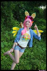 (MLP) Hippie Fluttershy Cosplay
