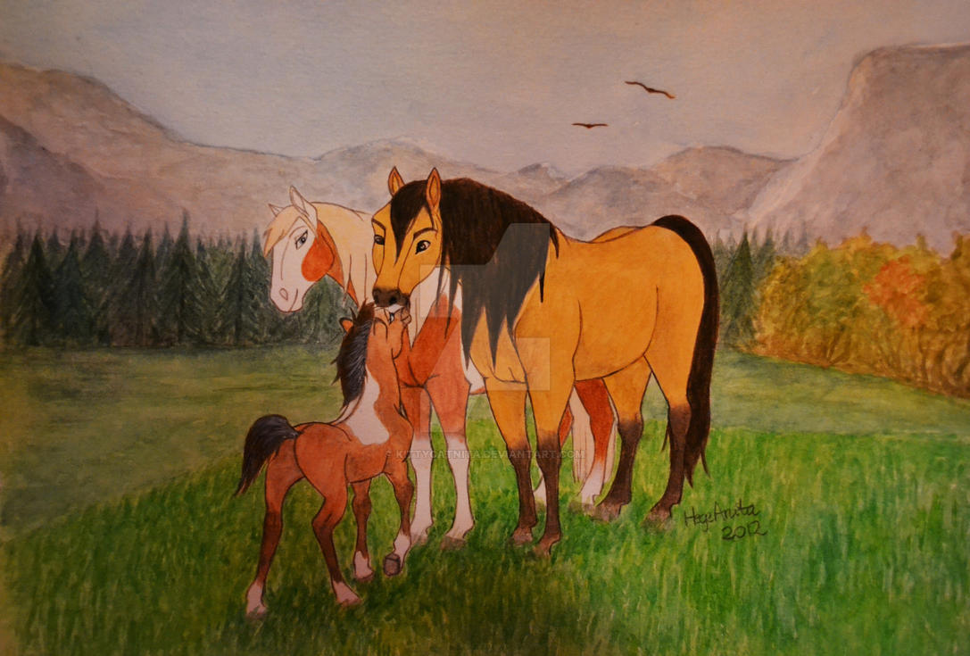 Spirit Stallion Of Cimarron - Family by KittycatNita
