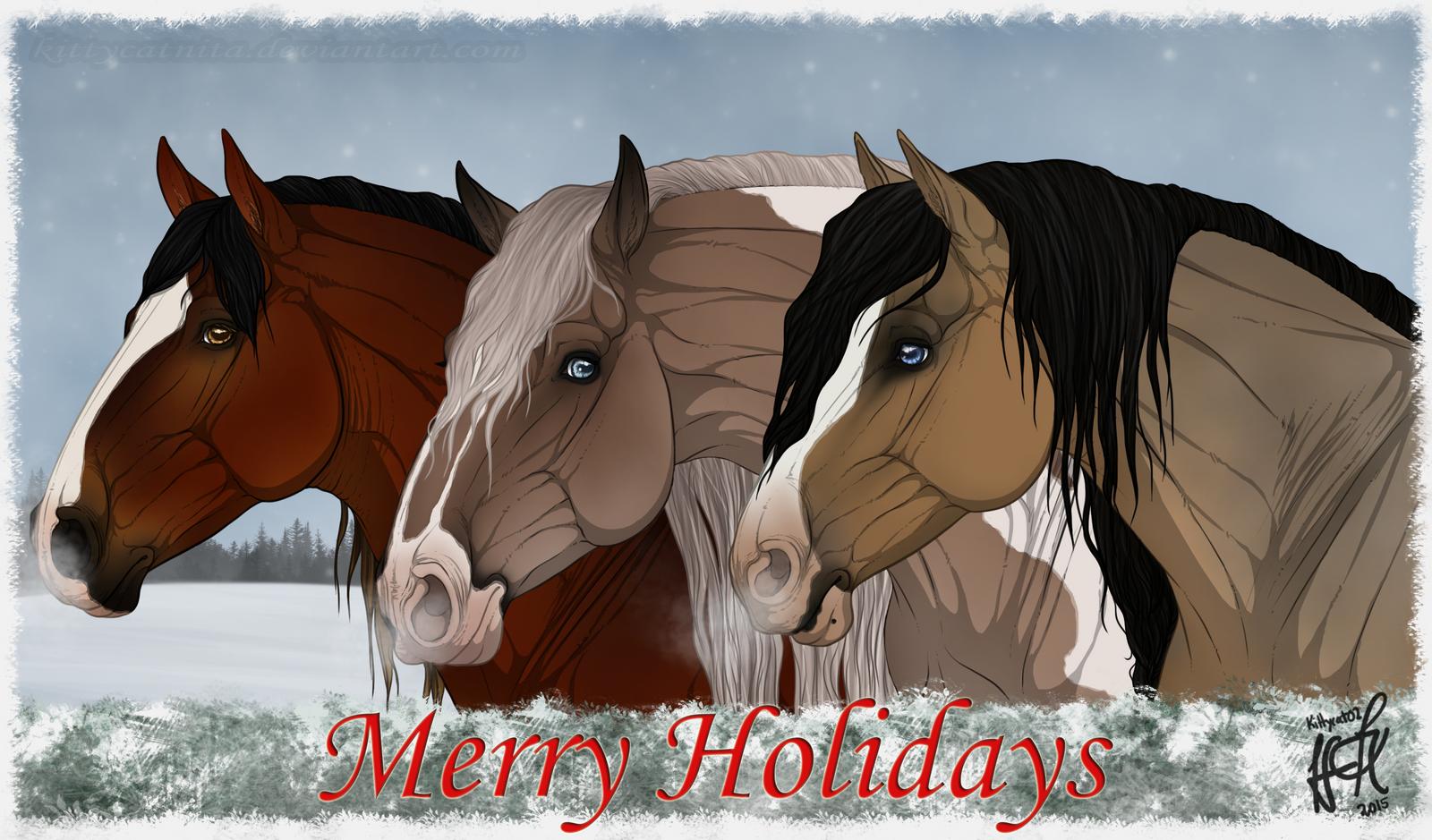 :Merry Early Christmas! Pretty necks: by KittycatNita