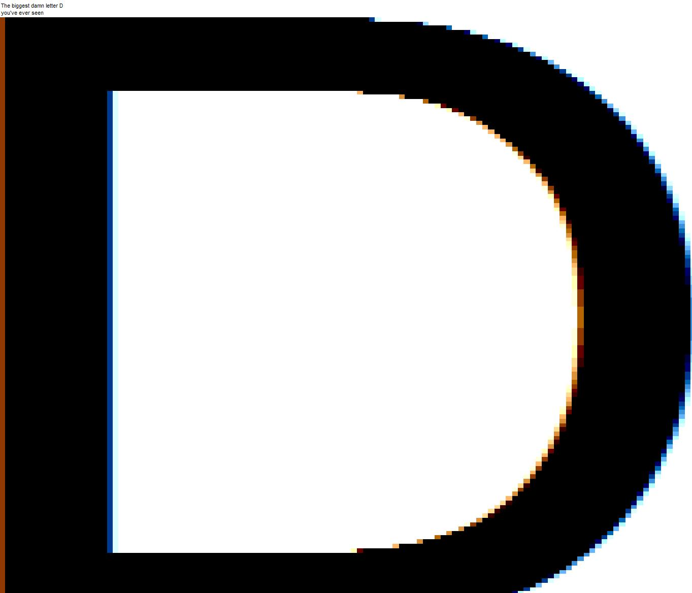 Letter D A pretty big letter d by