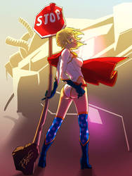 Power Girl -Trinquette Weekly Drawing Challenge-