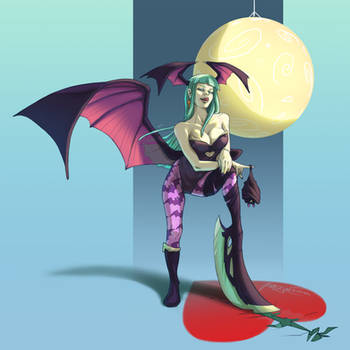 Morrigan -Trinquette Weekly Drawing Challenge- by fabzim