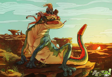 How to train a lizard. by fabzim