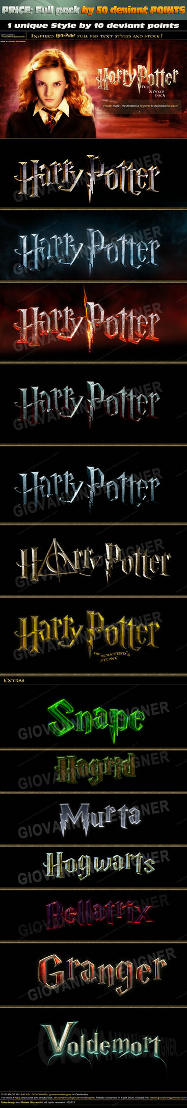 Fantastic texts effects inspired in Harry Potter!