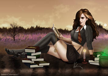 Memories of Hogwarts (Colored version) by RafaelGiovannini