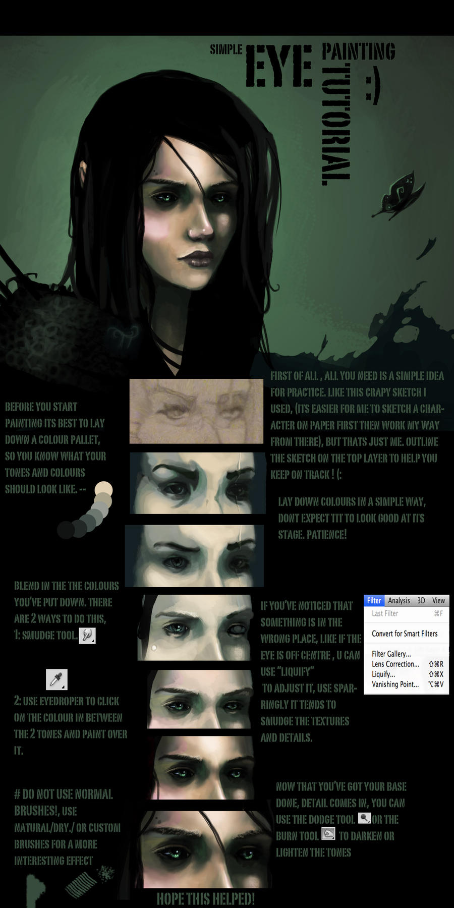 simple eye digital painting tutorial. by Anermik