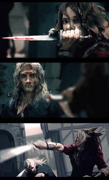 Witcher vs Renfri - Study