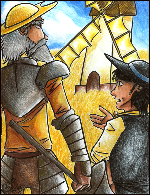 critques in don quixote Are you familiar with the classic scene from don quixote where the main character attacks the windmills, mistaking them as giants there is more to.