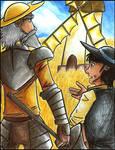 Don Quixote: Arguing of Giants