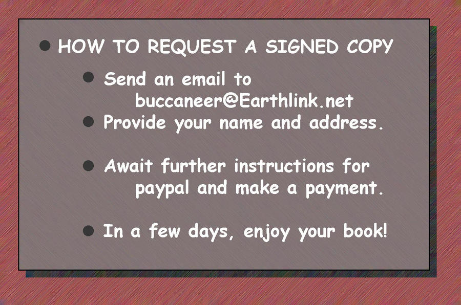 Buy A Signed Copy! by Agent505