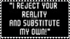 Substituted Reality Stamp by Agent505