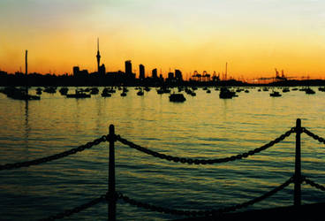 Dawn On Auckland City by apheix
