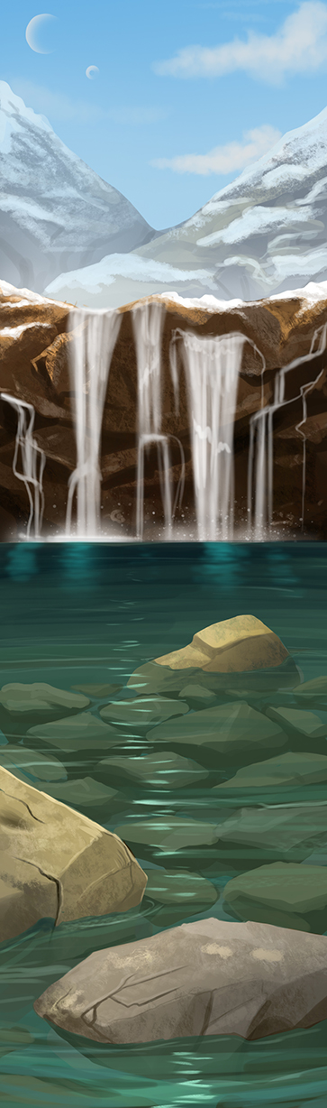 Speed Paint- Fairy Pools by Evilddragonqueen