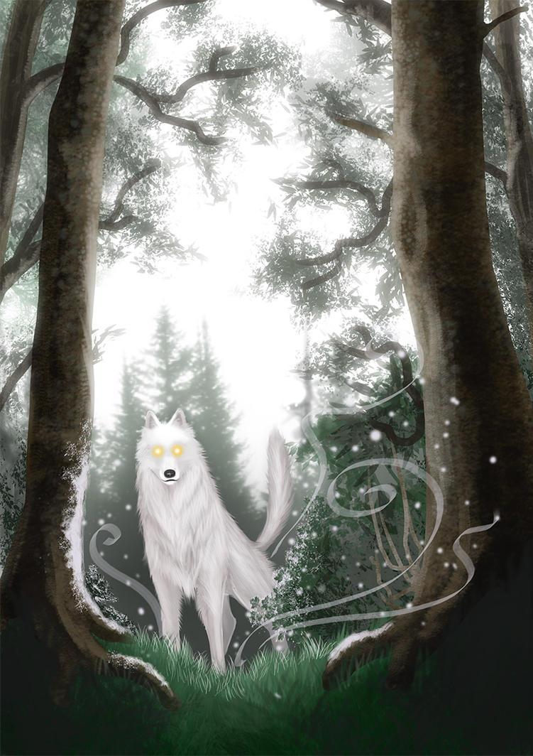 Winter Wolf by Evilddragonqueen