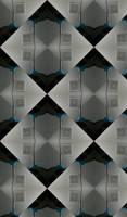 Diamond Shaped Black  Gray Abstract