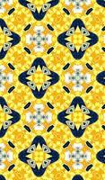 Yellow  Blue Diamond Shape Abstract
