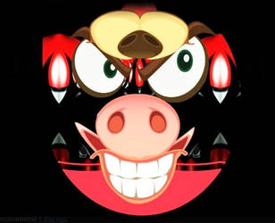 Abstract Monster with Pigs Snout by ricoramiro
