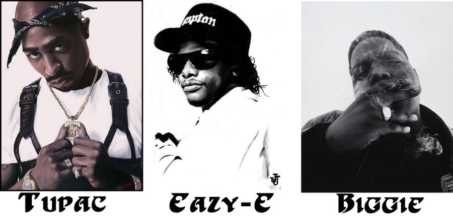 2pac Biggie Eazy E Drawing | Komseq