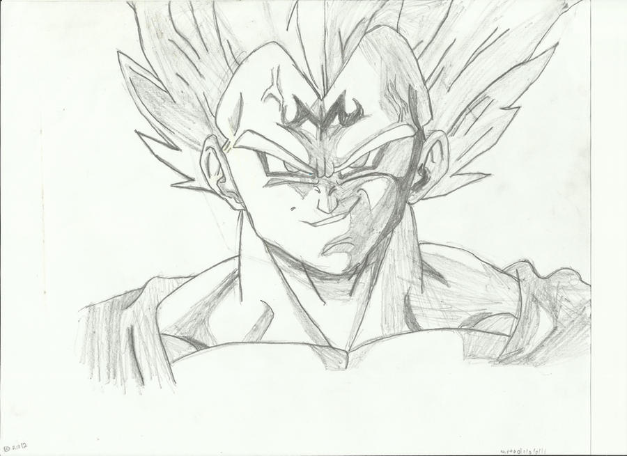 Dragon Ball Z Majin Vegeta Drawing
