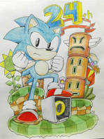 HAPPY 24TH SONIC by TheJege12