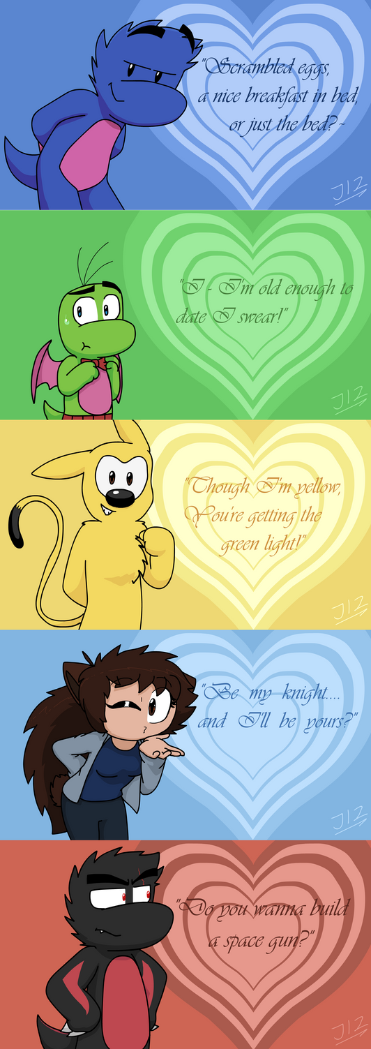 Dinoverse Valentine's Day Cards! by TheJege12