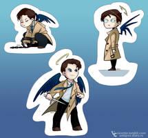 Castiel stickers