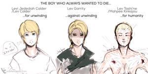 Self-destructive boy. [Lev / UnWind dystology]
