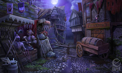 Medieval street by celedka