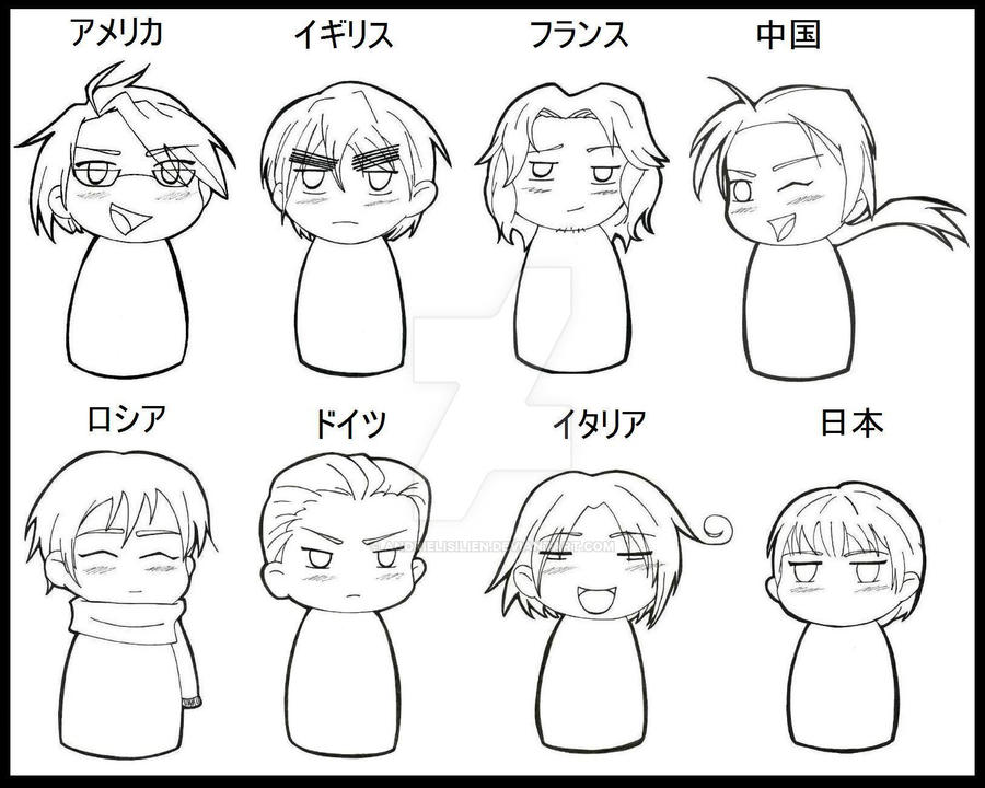 hetalia coloring pages allies - photo#5