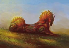 Horse-Dragon by elbardo