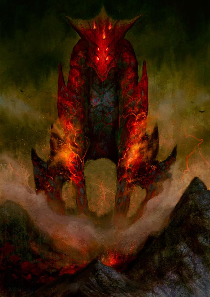 Fire Colossus by elbardo