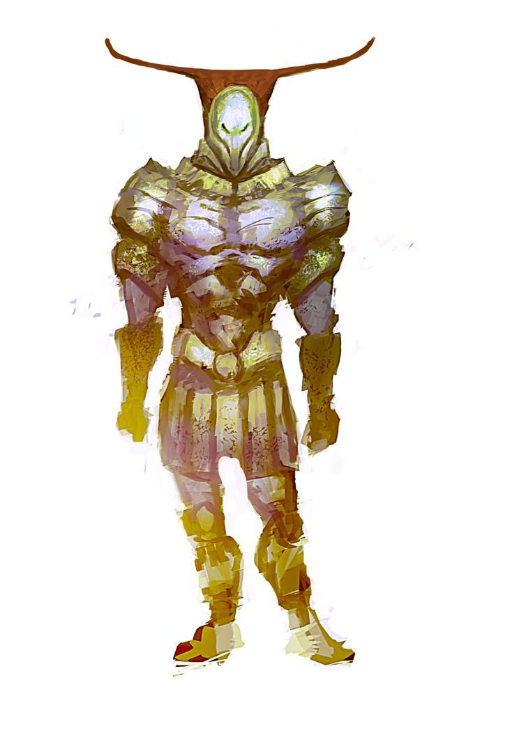 Medieval alien by elbardo
