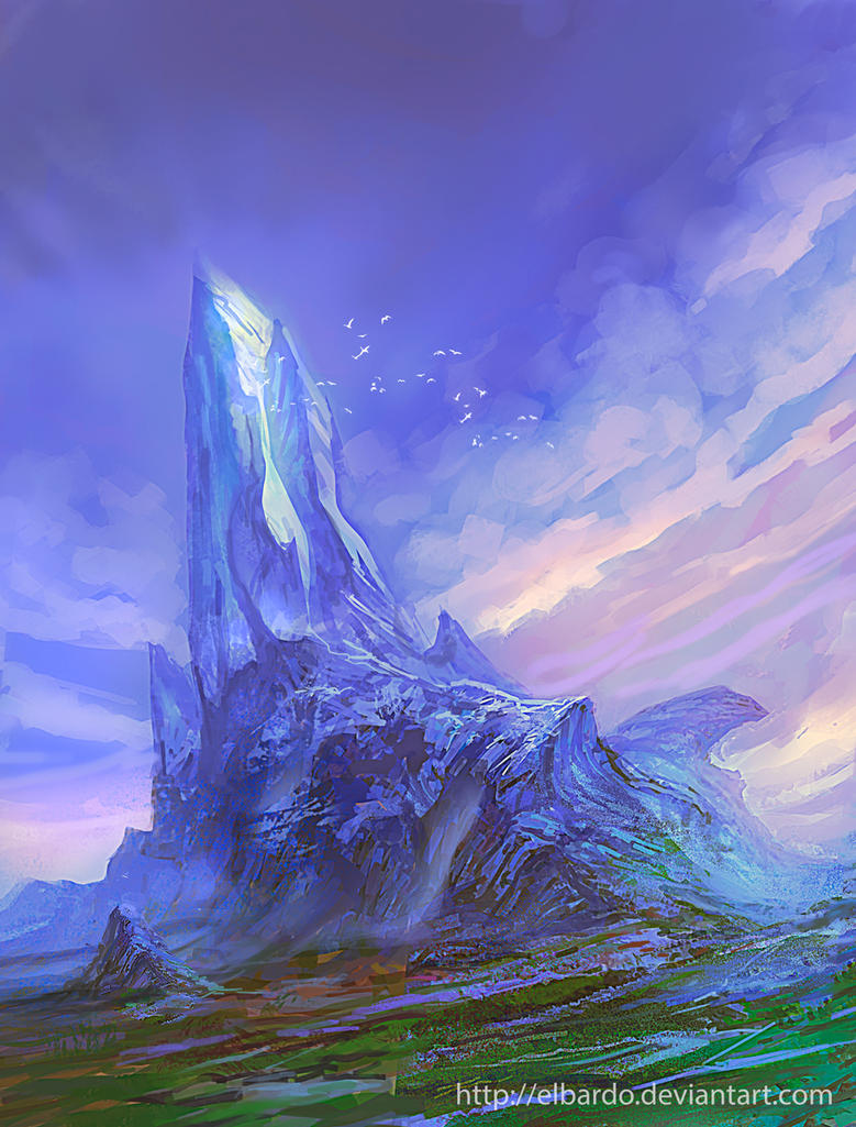 Crystal mountain by elbardo on deviantart for Paintings of crystals