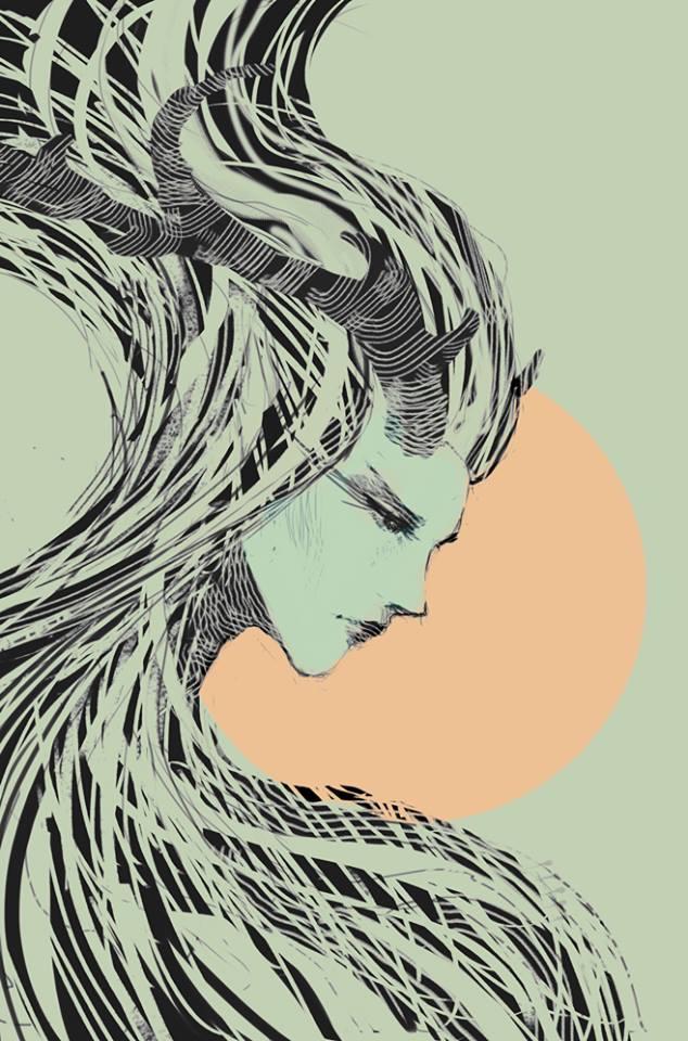Girl with horns by elbardo